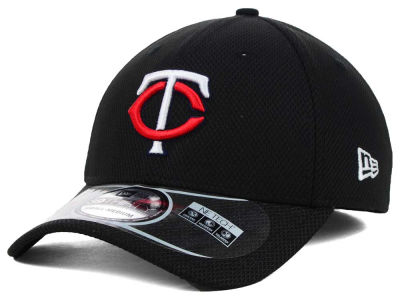 Minnesota Twins MLB Diamond Era Black 39THIRTY Cap Hats