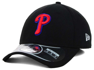 Philadelphia Phillies MLB Diamond Era Black 39THIRTY Cap Hats