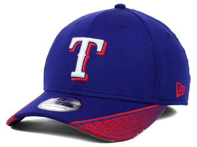 Texas Rangers MLB Vertical Strike 39THIRTY Cap Hats