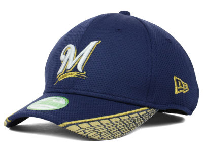 Milwaukee Brewers MLB Youth Vertical Strike 39THIRTY Cap Hats