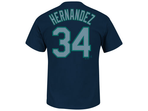 Seattle Mariners Felix Hernandez Majestic MLB Men's Official Player T-Shirt