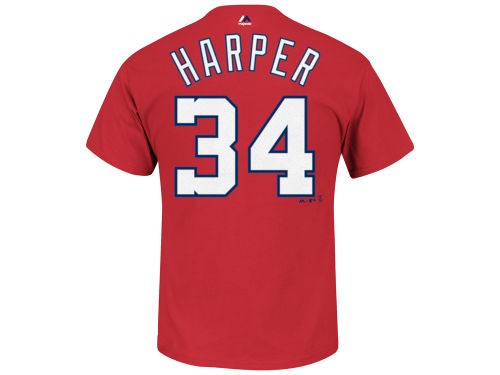 Washington Nationals Bryce Harper Majestic MLB Men's Official Player T-Shirt