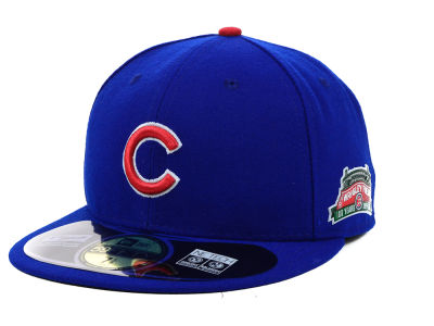 Chicago Cubs MLB Wrigley Field 100th Anniversary Patch 59FIFTY Cap Hats