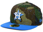 Houston Astros New Era MLB Camo Splatted A-Frame 59FIFTY Cap Fitted Hats