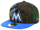 Miami Marlins New Era MLB Camo Splatted A-Frame 59FIFTY Cap Fitted Hats