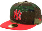 New York Yankees New Era MLB Camo Splatted A-Frame 59FIFTY Cap Fitted Hats