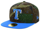 Texas Rangers New Era MLB Camo Splatted A-Frame 59FIFTY Cap Fitted Hats