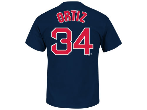 Boston Red Sox David Ortiz Majestic MLB Men's Official Player T-Shirt