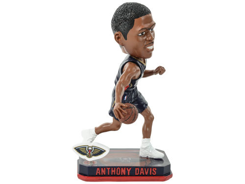 New Orleans Pelicans Anthony Davis Forever Collectibles Springy Logo Bobble