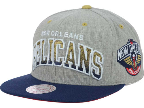 New Orleans Pelicans Mitchell and Ness NBA Heather Gradient Snapback Cap Hats