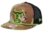 Chicago Bulls New Era NBA Hardwood Classics A-Rope A-Frame 9FIFTY Snapback Cap Adjustable Hats