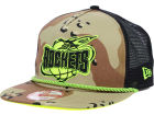 Houston Rockets New Era NBA Hardwood Classics A-Rope A-Frame 9FIFTY Snapback Cap Adjustable Hats