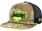 Los Angeles Lakers New Era NBA Hardwood Classics A-Rope A-Frame 9FIFTY Snapback Cap Adjustable Hats