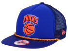 New York Knicks New Era NBA Hardwood Classics A-Rope A-Frame 9FIFTY Snapback Cap Adjustable Hats