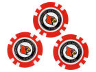 Louisville Cardinals Team Golf Golf Poker Chip Markers 3 Pack Toys & Games