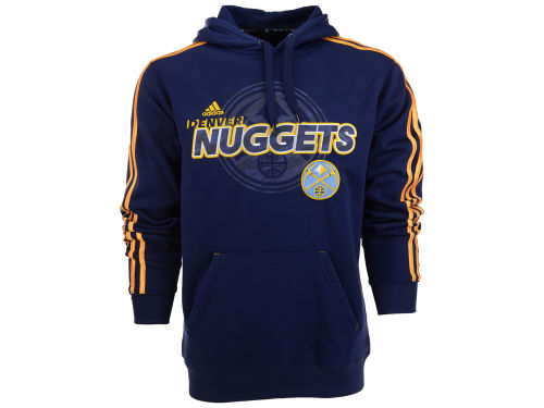 Denver Nuggets adidas NBA 3-Stripe Fleece Hoodie