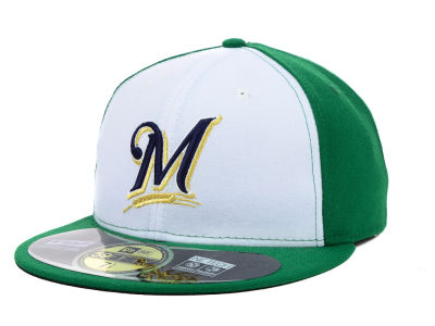 Milwaukee Brewers MLB 2015 St. Pattys AC 59FIFTY Cap Hats