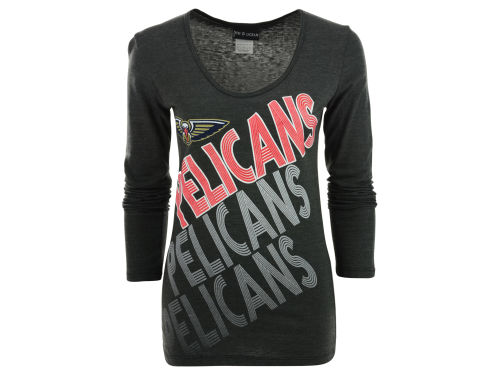 New Orleans Pelicans 5th & Ocean NBA Womens Long Sleeve Scoop T-Shirt