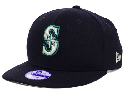 Seattle Mariners MLB Youth Major Wool 9FIFTY Snapback Cap Hats