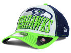 Seattle Seahawks New Era NFL 2014 Word Rush 39THIRTY Cap Stretch Fitted Hats