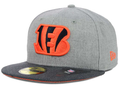 Cincinnati Bengals NFL Heather 2 Tone 59FIFTY Cap Hats