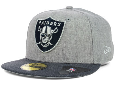 Oakland Raiders NFL Heather 2 Tone 59FIFTY Cap Hats