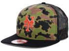 New York Mets New Era MLB Camo Face Mesh Trucker 9FIFTY Snapback Cap Hats