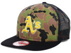 Oakland Athletics New Era MLB Camo Face Mesh Trucker 9FIFTY Snapback Cap Hats