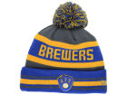 Milwaukee Brewers New Era MLB Team Jake Graphite Knit Hats