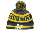 Oakland Athletics New Era MLB Team Jake Graphite Knit Hats