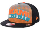 Miami Dolphins New Era NFL Dotflective 9FIFTY Snapback Cap Adjustable Hats