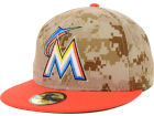 Miami Marlins New Era MLB 2014 Memorial Day Stars and Stripes 59FIFTY Cap Fitted Hats
