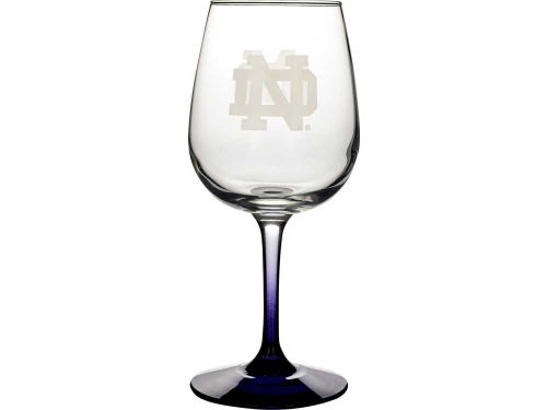 Notre Dame Fighting Irish Boelter Brands Satin Etch Wine Glass