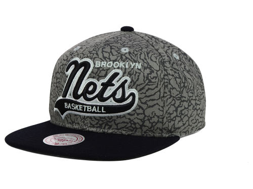 Brooklyn Nets Mitchell and Ness NBA E-Print Tailsweep Snapback Cap Hats