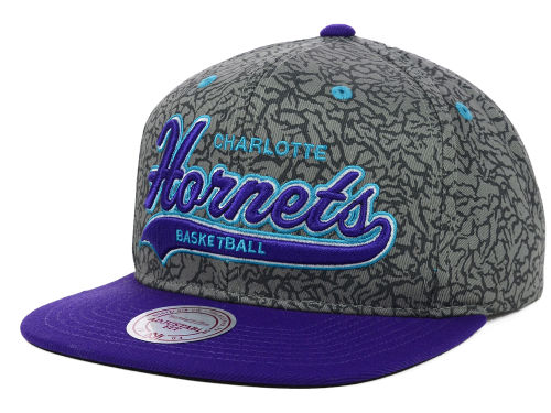 Charlotte Hornets Mitchell and Ness NBA E-Print Tailsweep Snapback Cap Hats