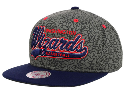 Washington Wizards Mitchell and Ness NBA E-Print Tailsweep Snapback Cap Hats
