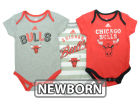 Chicago Bulls adidas NBA Newborn 3 Point Play Creeper Set Outfits