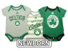 Boston Celtics adidas NBA Newborn 3 Point Play Creeper Set Outfits