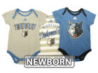 Minnesota Timberwolves adidas NBA Newborn 3 Point Play Creeper Set Outfits