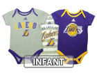 Los Angeles Lakers adidas NBA Infant 3 Point Play Bodysuit Set Outfits