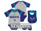 Charlotte Hornets adidas NBA Newborn Little Player Creeper, Bib and Bootie Set Infant Apparel