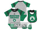 Boston Celtics adidas NBA Infant Little Player Creeper, Bib and Bootie Set Infant Apparel