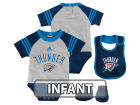 Oklahoma City Thunder adidas NBA Infant Little Player Creeper, Bib and Bootie Set Infant Apparel