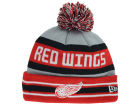 Detroit Red Wings New Era NHL Gray Jake Pom Knit Hats