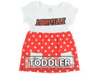 Louisville Cardinals Klutch College NCAA Toddler Polka Dot Dress Dresses