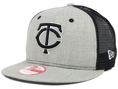 Minnesota Twins MLB Heather Trucker 9FIFTY Snapback Cap Hats
