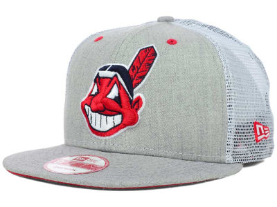 Cleveland Indians MLB Heather Trucker 9FIFTY Snapback Cap Hats