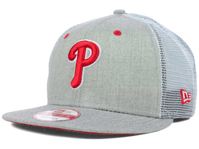 Philadelphia Phillies MLB Heather Trucker 9FIFTY Snapback Cap Hats