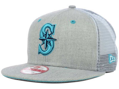 Seattle Mariners MLB Heather Trucker 9FIFTY Snapback Cap Hats
