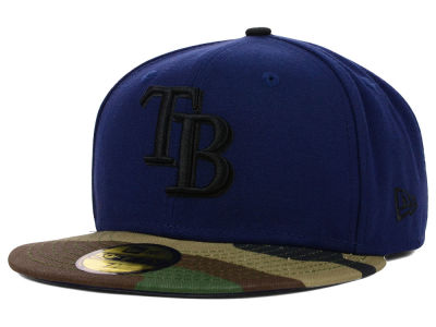 Tampa Bay Rays MLB Color Woodland 59FIFTY Cap Hats